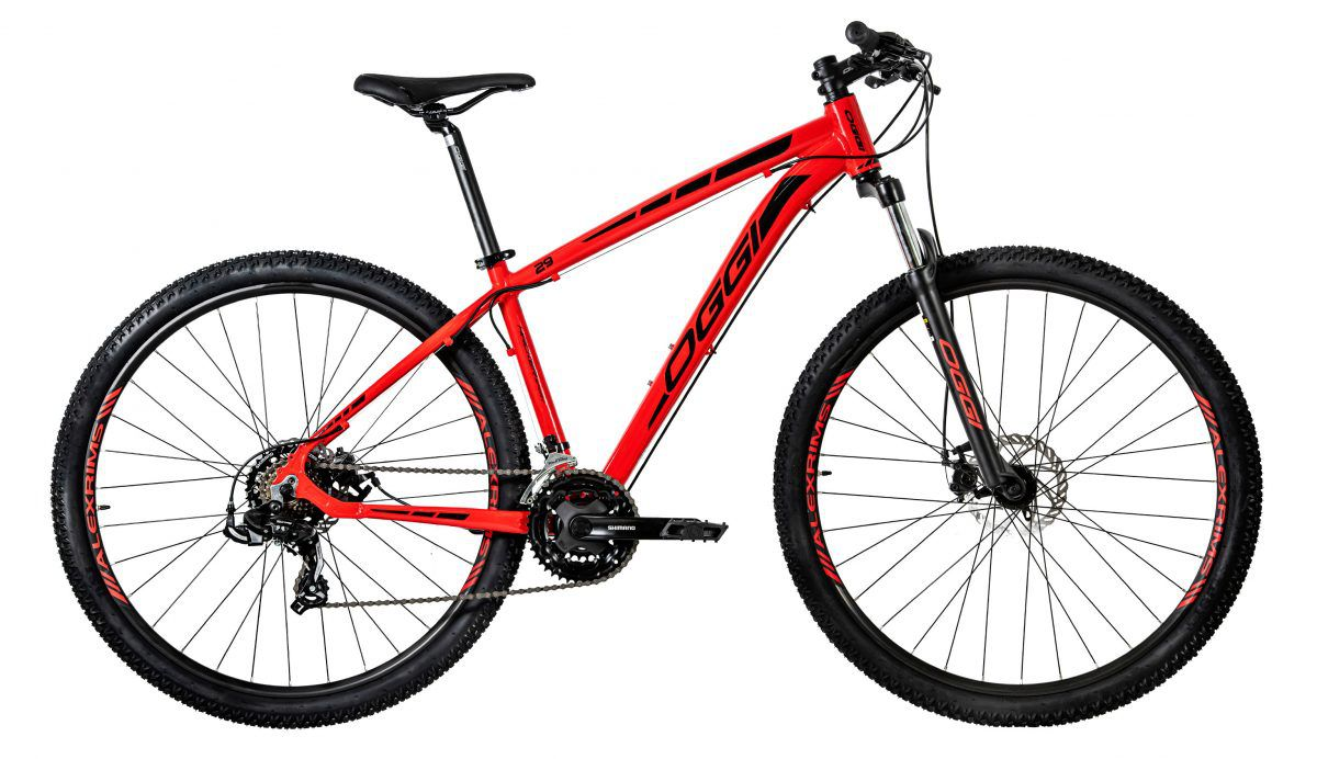 Bicicleta Oggi Hacker Sport  aro 29 21v  2020 Verm/Preto