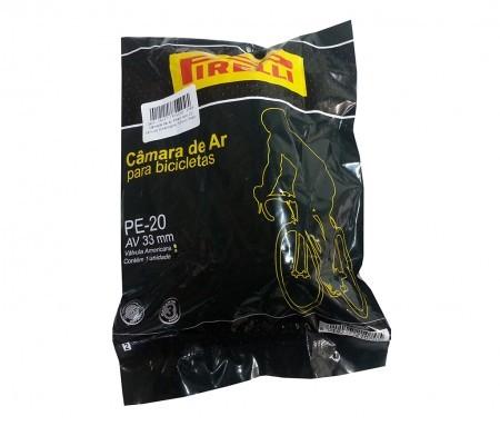 Câmara de Ar Pirelli Aro 20 Válvula Americana 33mm  (Bico Grosso)