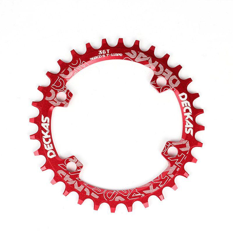 Coroa única Deckas 36 Dentes BCD 96 M 7-8-9000 vermelho