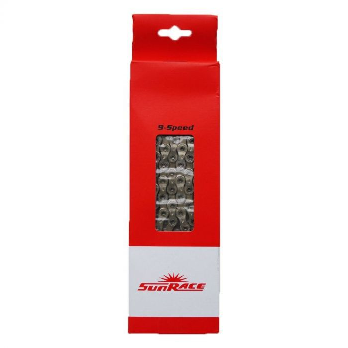 Corrente Sunrace 116 links Silver 9v