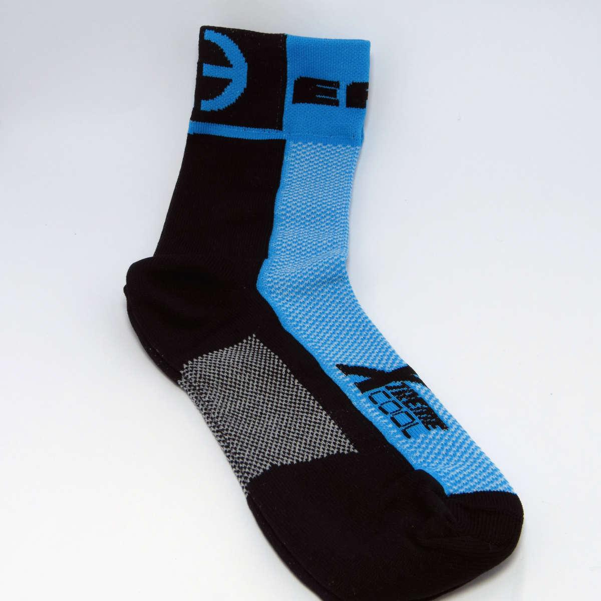 Meia Ert Xtreme Cool Preto/Azul