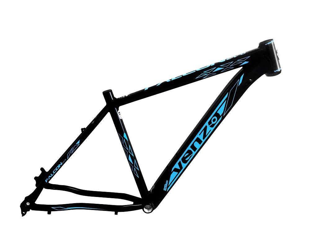 Quadro Bicicleta Mtb 29 Venzo Falcon Evo Preto/Azul