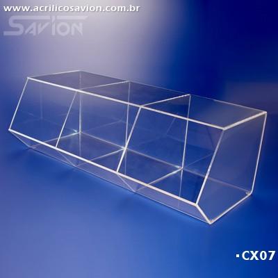 CX07-Caixa Baleiro em Acrilico Kids 3 47x20x15 cm