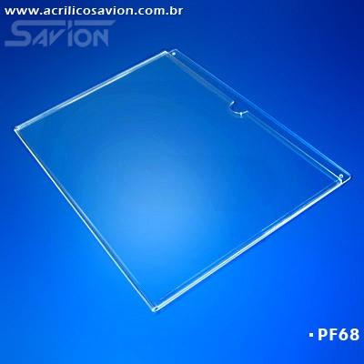 PF68-Porta Folheto de parede 42x30 cm A3 Horizontal - Envelope