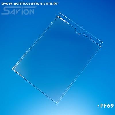 PF69-Porta Folheto de parede 30x42 cm A3 Vertical - Envelope