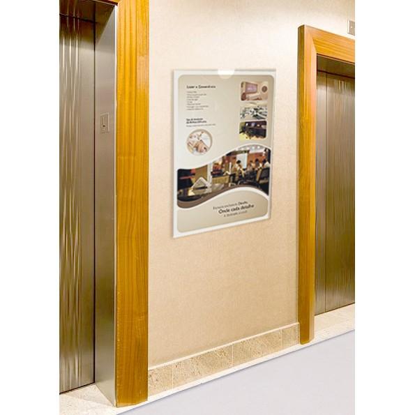 PF70-Porta Folheto de parede 42x60 cm A2 Vertical - Envelope