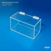CX21-Caixa Com Tampa e Dobradiças 12x20x12 Cm