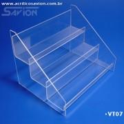 VT07-Prateleira de Acrilico 3 andares 35x24x26 cm