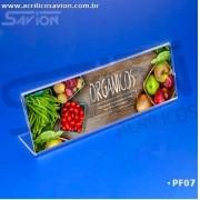 PF07-Porta Folheto de mesa 15x5 cm