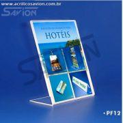 PF12-Porta Folheto de mesa 13x18 cm