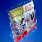 PF53-Porta Folheto de mesa - bolso duplo 11x22 cm 1/3 A4
