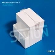 UR24 - Urna Para Sugestão Branca C16xp14xa20 Cm 500 Cupons