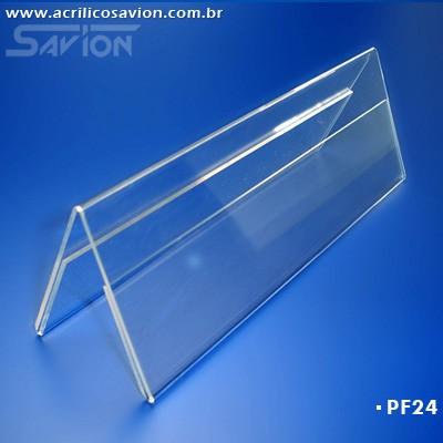 PF24-Prisma de mesa dupla face 21x10 cm