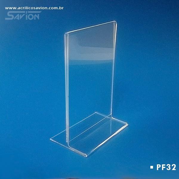 PF32-Porta Folheto de Mesa Dupla Face A5v 15x22 Cm