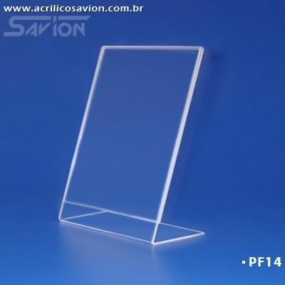 PF14-Porta Folheto de mesa 18x24 cm