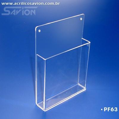 PF63-Porta Folheto de parede com bolso 22x30 cm A4