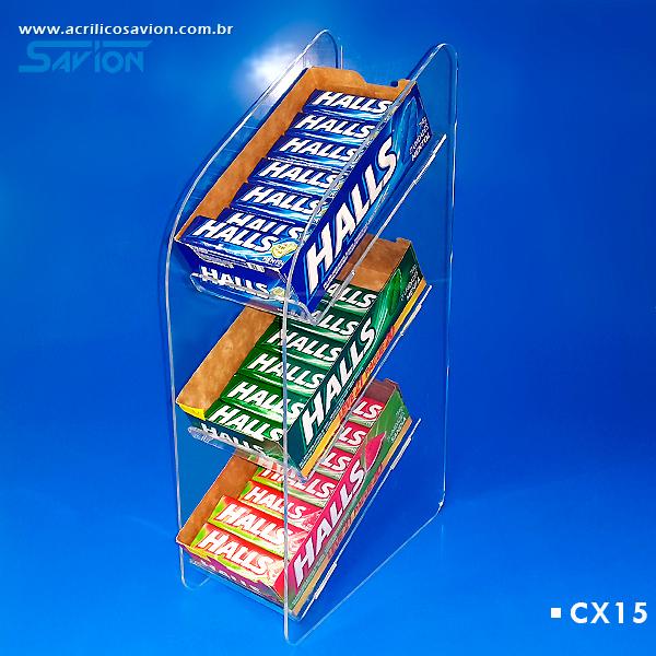 CX15-Displays Para Doces Em Acrilico 11x22x46 Cm