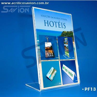 PF13-Porta Folheto de mesa 15x22 cm A5