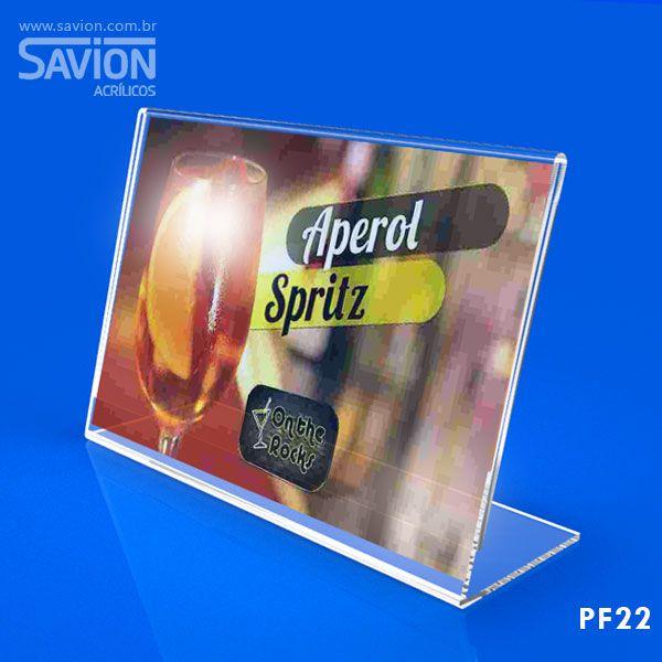 PF22-Porta Folheto de mesa 22x15 cm