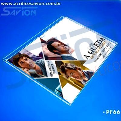 PF66-Porta Folheto de parede 30x22 cm - A4 Horizontal - Envelope