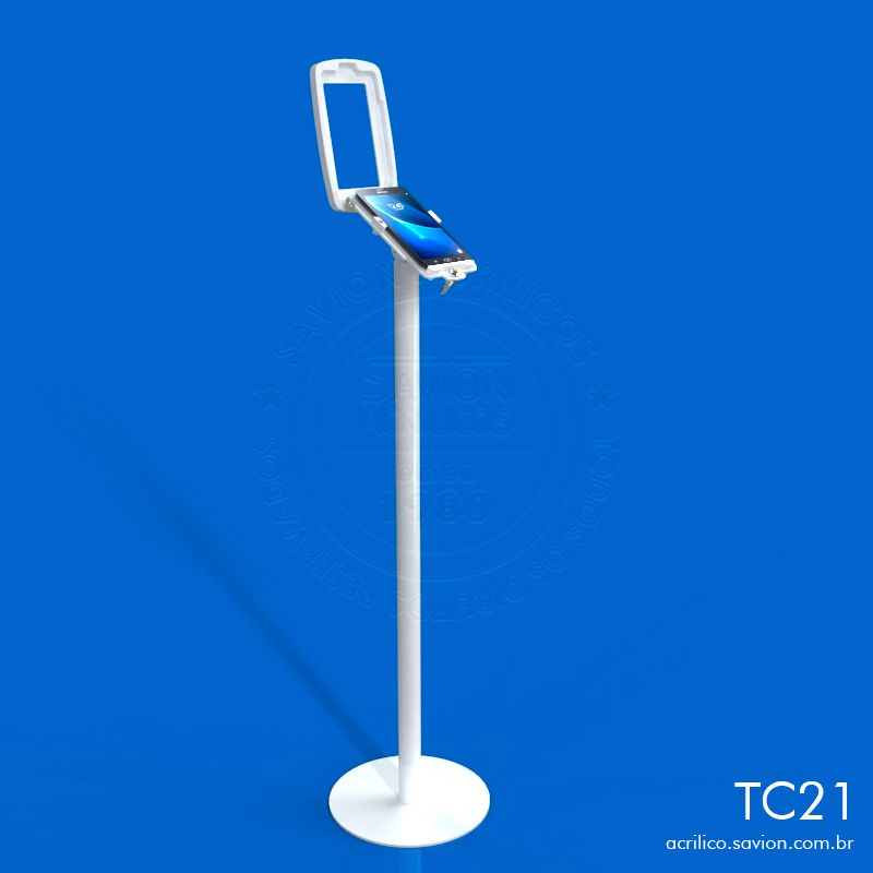 TC21-Suporte Em Acrilico Tablet 7 Polegadas de Piso