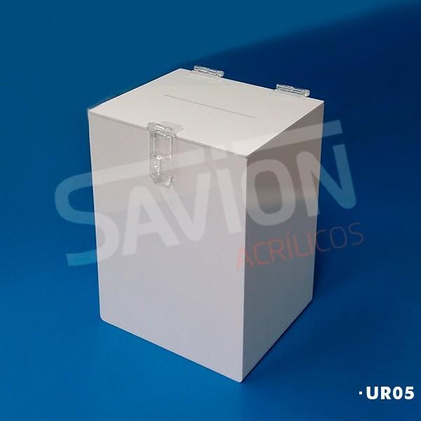 UR05 - Urna Cubo Branca C20xp20xa30 Cm 1200 Cupons
