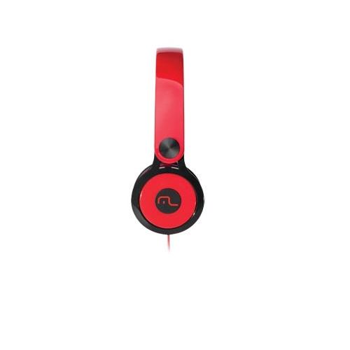 Fone de Ouvido Xtream 360 Compativel com Iphone, IPOD, MP3  Multilaser Vermelho PH081