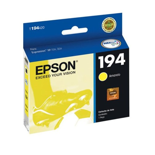 Cartucho EPSON 194 Amarelo T194420 XP-104/204/214