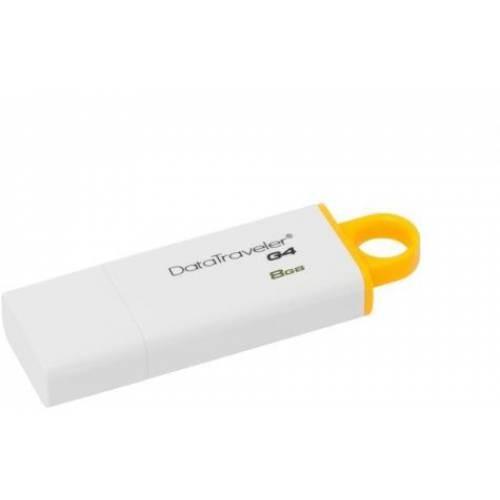 Pen Drive 8GB Kingston Data Traveler DTIG4/8GB BRANCO/AMARELO