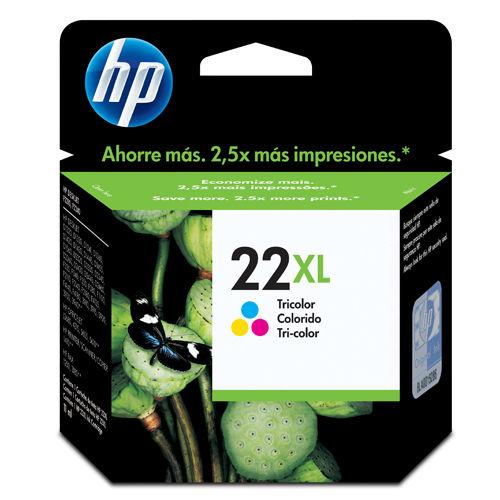 Cartucho HP 22XL C9352CB Colorido HP PSC 1410/3920/2360