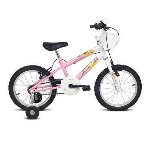 Bicicleta Brave Branco e Rosa ARO 16 Verden 10003