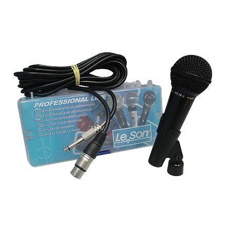Microfone Profissional Preto com Fio SM58 B Leson