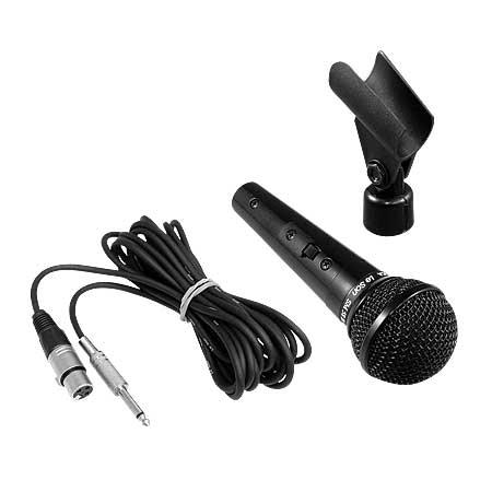 Microfone Metalico Preto SM58 B - Resposta de Frequencias 50HZ a 15 KHZ - Impedancia Baixa 250 OHM