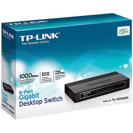 SWITCH de Mesa 8 Portas - Gigabit - TP-LINK TL-SG1008D