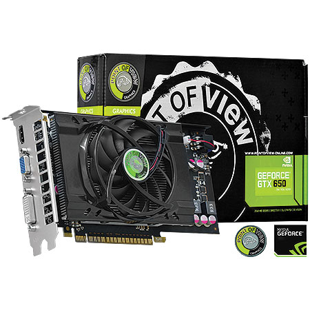 Placa de Video Point OF View Geforce GT650 VGA-650-C1-1024 1GB GDDR5 DVI/HDMI/VGA 128 BITS