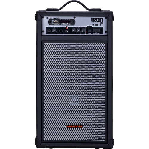 Caixa Multiuso IRON 600 100W RMS Bluetooth USB/SD e Radio FM Hayonik