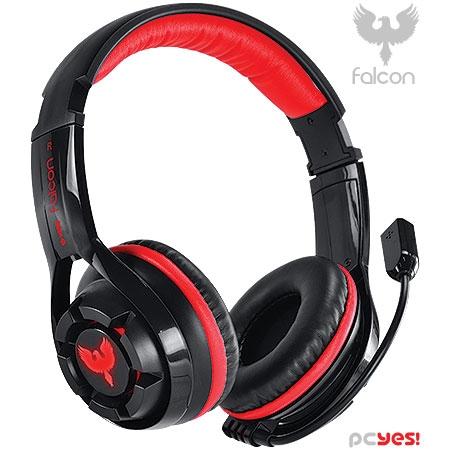 Headset Gamer Falcon 7.1 Vermelho para PC com Microfone