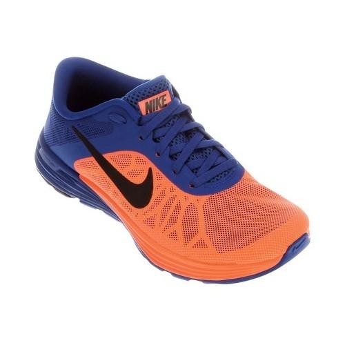 Tenis Nike Lunarlaunch - Laranja+azul TAM 41