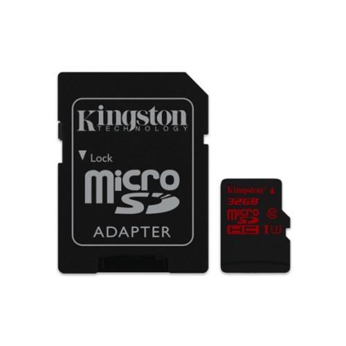 Cartao de Memoria Kingston Micro SDHC / SDXC 32GB UHS-I Classe 10 U3 + ADAPT SD - SDCA3/32GB