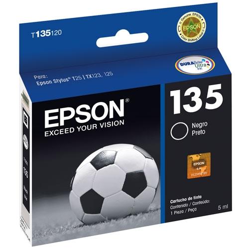 Cartucho EPSON T135120 Preto T125/TX123/125