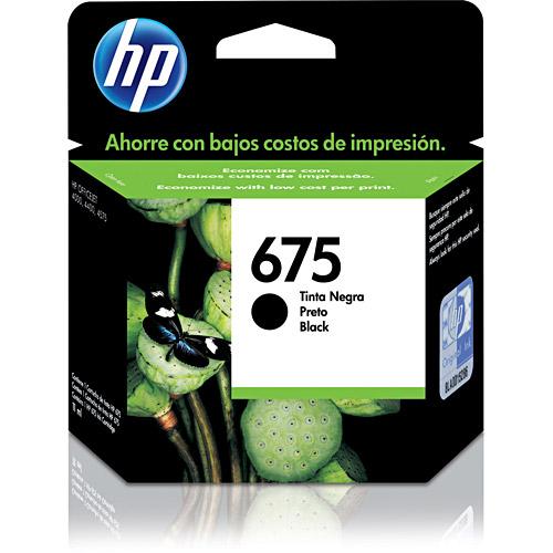 Cartucho HP 675 CN690AL Preto