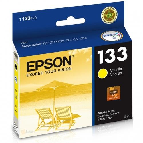 Cartucho EPSON T133420 Amarelo T22/T25/TX320/TX120/TX123/TX125