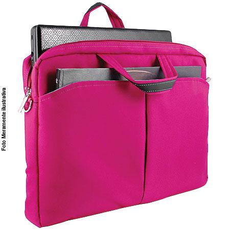 Bolsa Feminina para Notebook de ATE 15,6´´ Multilaser BO170 Rosa