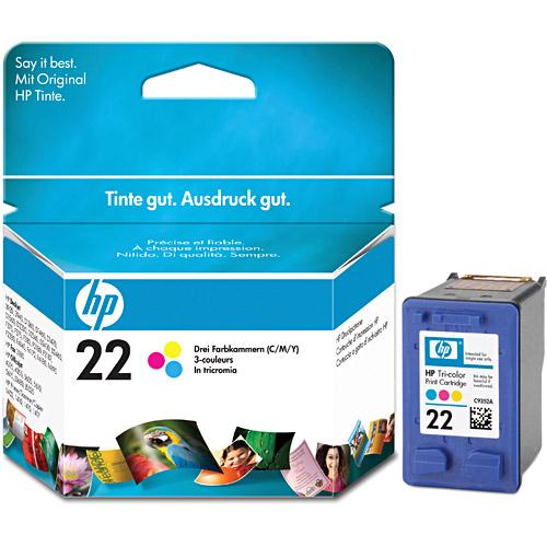 Cartucho HP 22 C9352AB Colorido HP PSC 1410/3920/2360