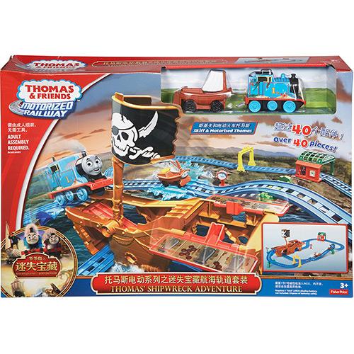 Pista Thomas Friends Ferrovia Motorizada Aventura Pirata Cdv11 Mattel