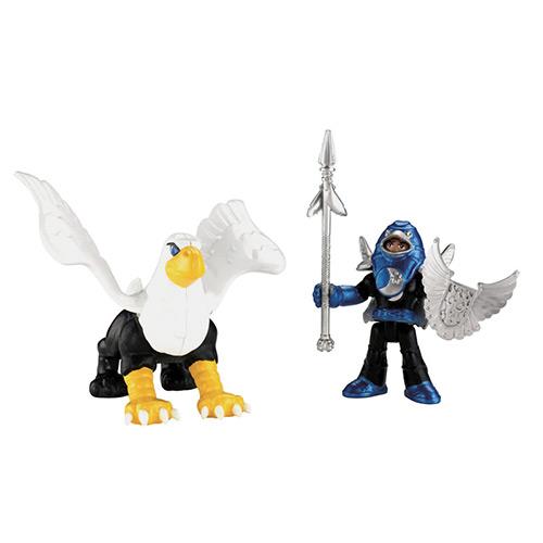 Boneco Imaginext Guerreiros do Castelo Cavaleiro e Fênix Mattel