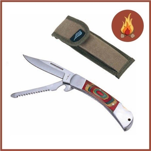 Canivete Montana Nautika com 2 Lâminas Aço Inox  - Casafaz