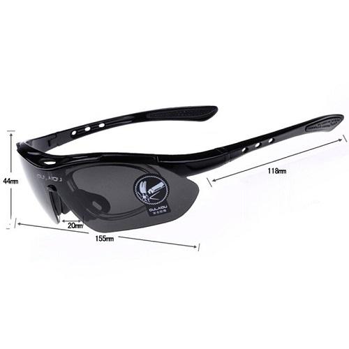 Óculos Ciclismo Esportes 5 Lentes + Clip Lente De Grau  - Casafaz