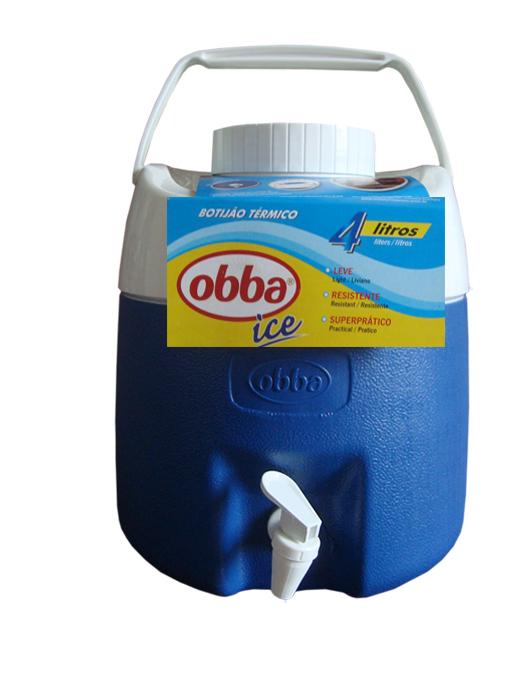 Botijão Térmico Obba Ice 4 Litros Azul Com Torneira  - Casafaz