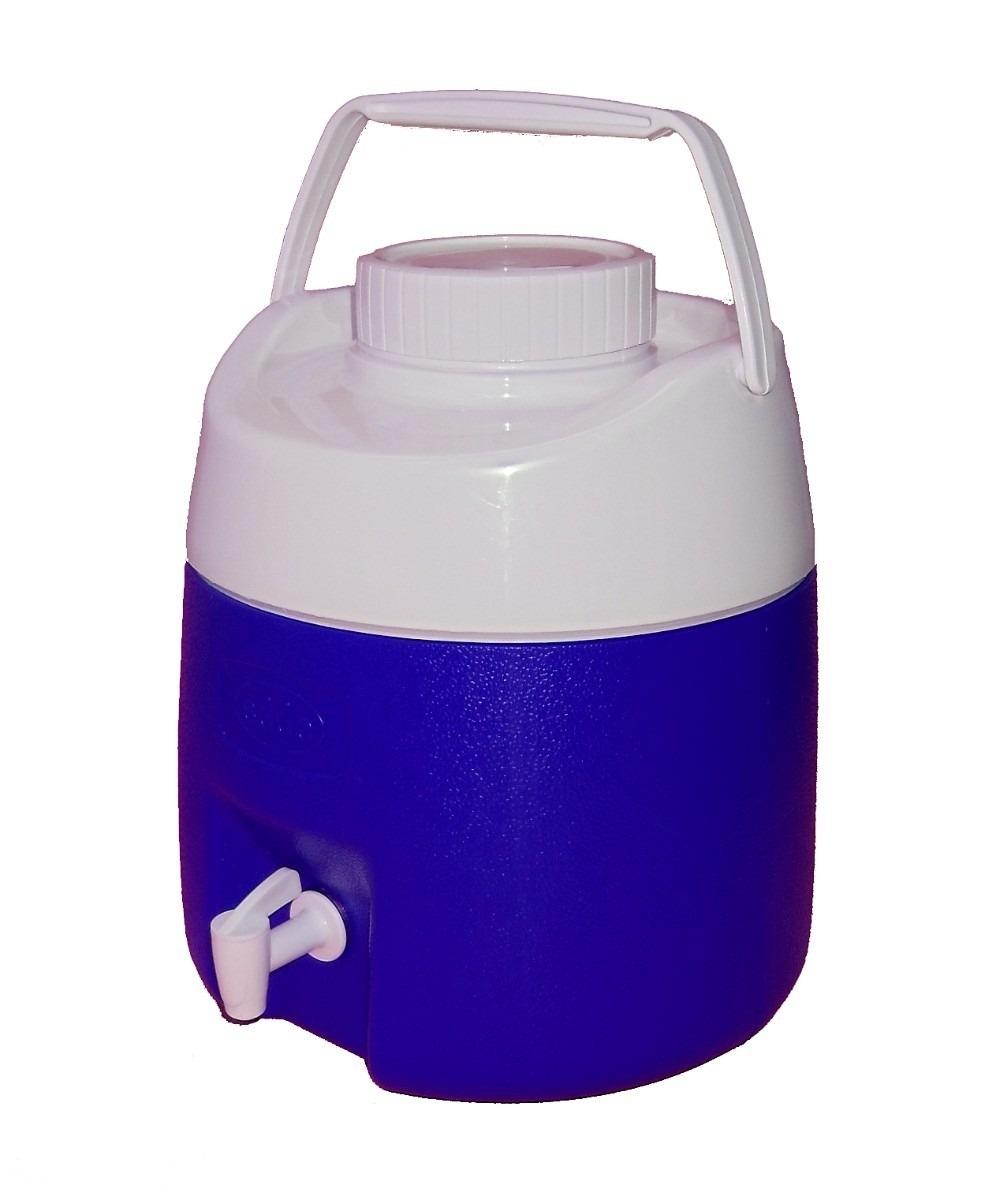 Botijão Térmico Obba Ice 8 Litros Azul Com Torneira  - Casafaz